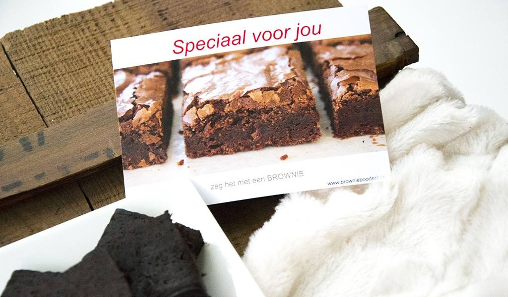 BrownieBoodschap - zeg het met een brownie! | Label of Suze